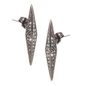 House of Harlow Marquis Stud Earrings-Gunmetal